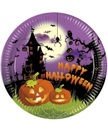 Spooky Halloween Pappteller 8 St.