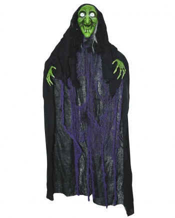 Talking Rag Witch With Light & Sound 120cm