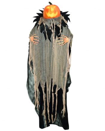 Talking Pumpkin Scarecrow Hanging Figure