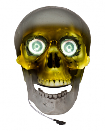 Talking Skull With Glowing Eyes