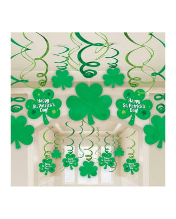 St. Patrick's Clover Deco Spirals 30 Pieces
