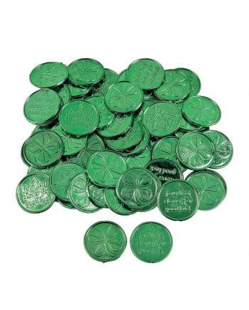 Kleeblatt Glücksmünzen