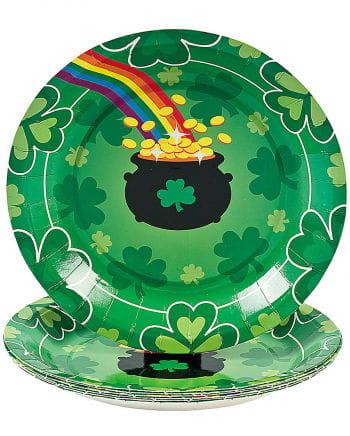 St. Patricks Day Dessert Pappteller 8 St.