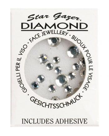 Silberne Glitzersteine