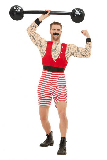Strong August Deluxe Muscle Costume For Adults
