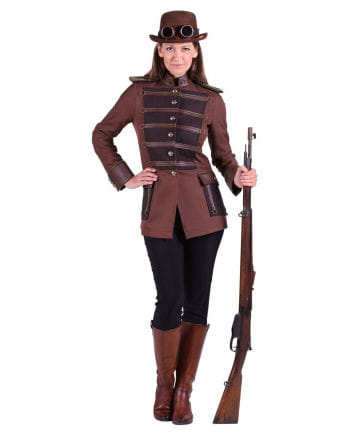 Steampunk ladies jacket brown