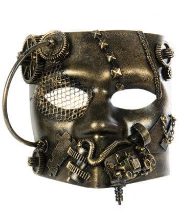 Steampunk Bauta Mask Gold
