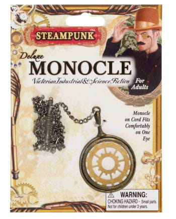 Steampunk Monokel Gold