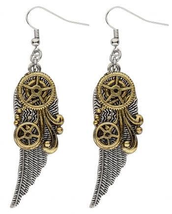 Steampunk Flügel Ohrringe