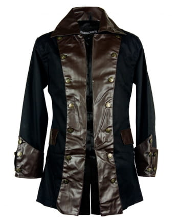 Steampunk Pirate Jacket Black-brown