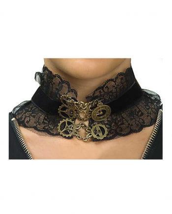 Steampunk Halsband mit Zahnrädern