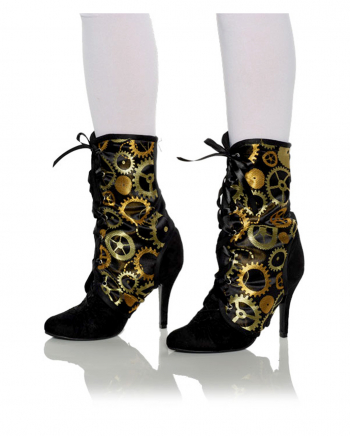 Steampunk Boot Tops With Cogwheel Motif