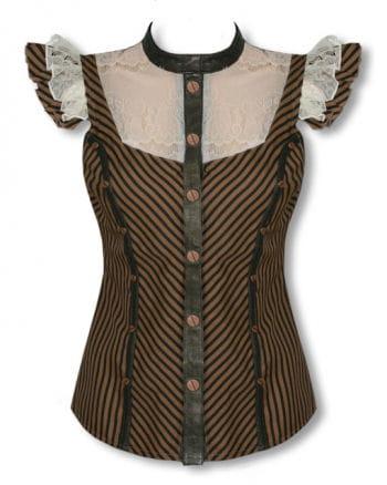 Steampunk Bluse mit Spitze