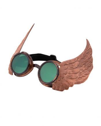 Steamworks Flügel-Pilotenbrille Gold