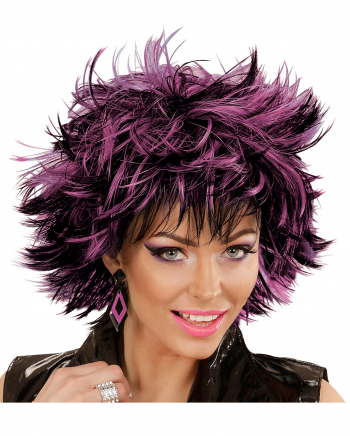 Steamy Wig Black-violet For Halloween