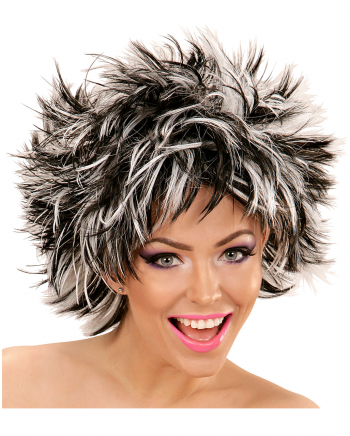 Steamy Wig Black And White For Halloween