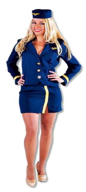 Stewardess Navy Kostüm blau XL