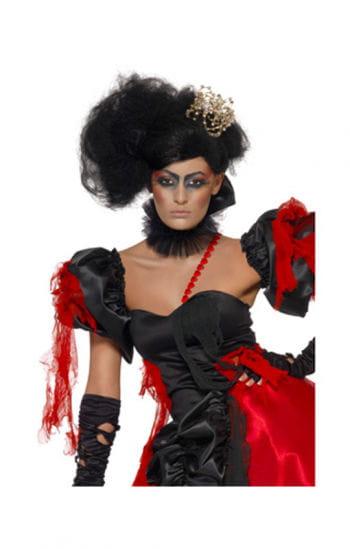 Stylische Lady Perücke schwarz