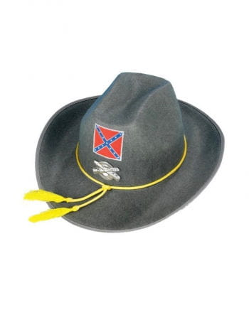 Südstaatler Soldaten Hut Grau
