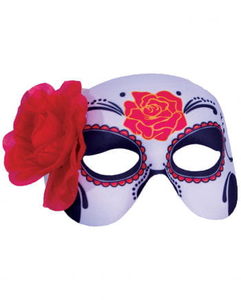 Sugar Skull With Rose Eye Mask
