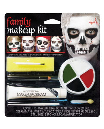 Family Skelett Make Up Set