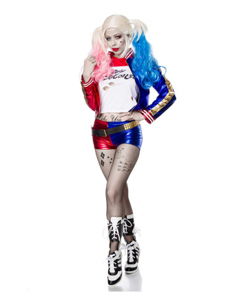 5-tlg. Suicide Harlequin Kostüm
