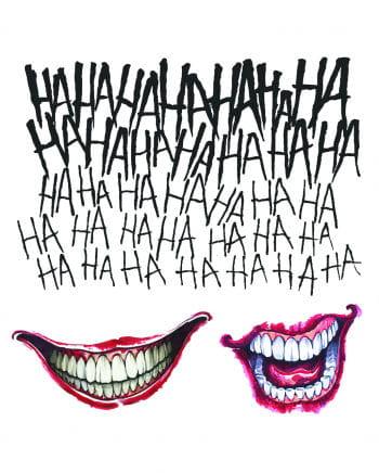 3-tlg. Suicide Squad Joker Tattoo Set