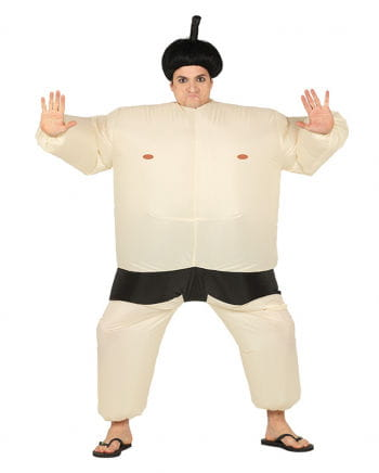 Beiges Sumo Ringer Kostüm zum Aufblasen