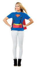 XL Supergirl T-Shirt mit Cape