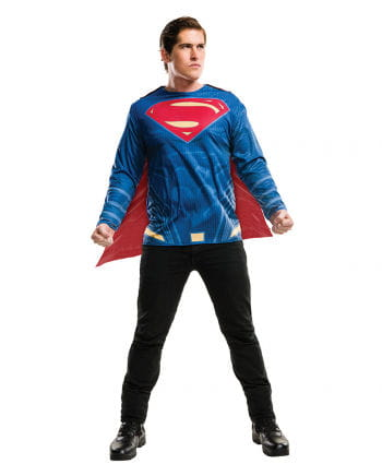 Superman Shirt With Cape For Adults