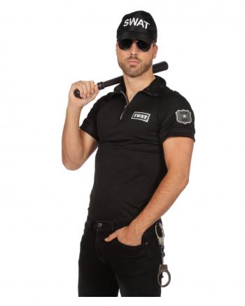 Männer Kostüm-Shirt SWAT Agent