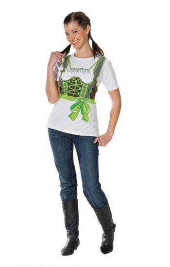 Grünes Dirndl T-Shirt