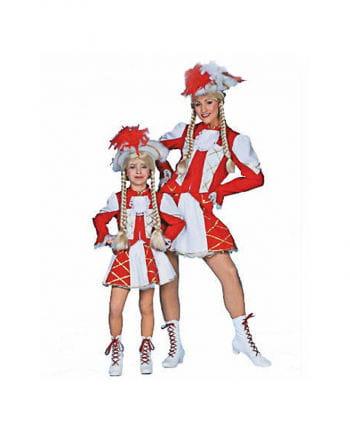 Funkenmariechen Kostüm rot/weiß
