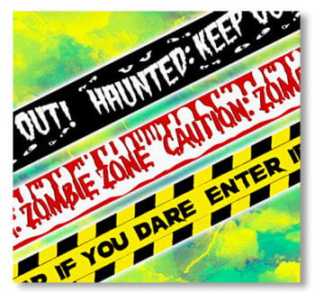 Halloween Barrier Tape 3-piece