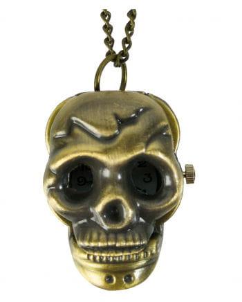 Taschenuhr Halskette Totenschädel