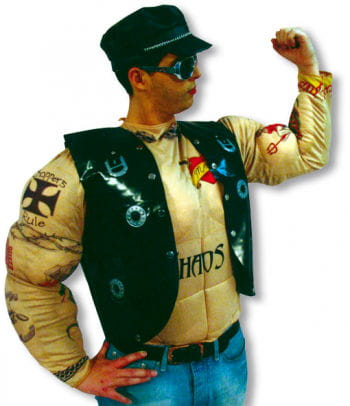 Tattoo Rocker Muscle Chest Costume