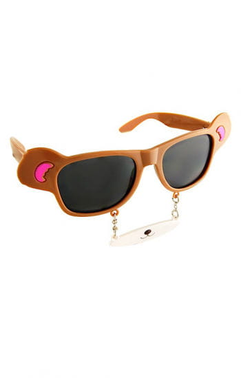 Teddy Bear glasses with nose