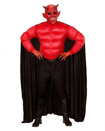 Devil Costume Shirt With Cape