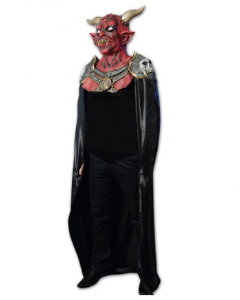 Satan Latex Maske mit Umhang