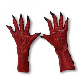 Devil Gloves red