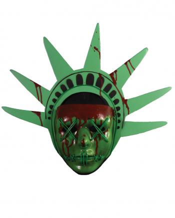 Lady Liberty Maske mit Lichteffekt - The Purge Election Year