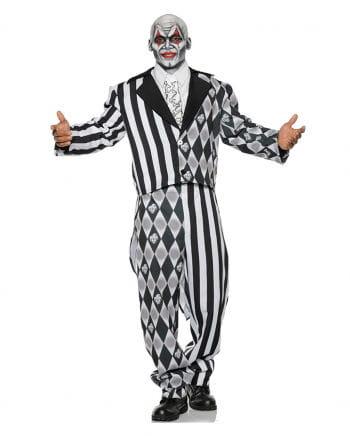 Schwarz-weißes Kostüm böser Harlekin