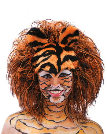 Tiger Wig From Striped Plush