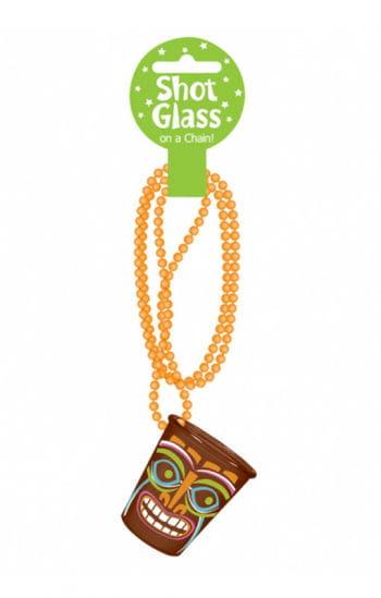 Südsee Schnapsglas mit Halskette