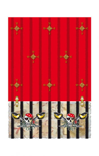 Red Pirate Tablecloth