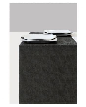 Schwarzer Elegance Ornament Tischläufer 6m