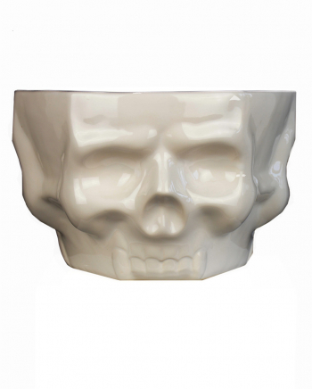 Totenschädel Keramik Schüssel weiß