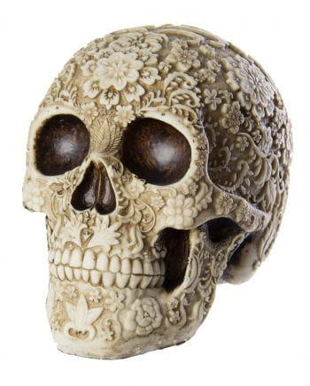 Skull With Flower Design