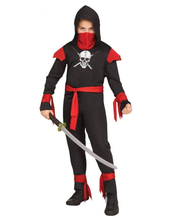 Totenschädel Ninja Kinderkostüm