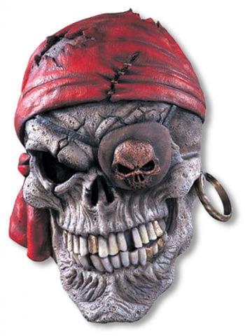 Piraten Schädel Latexmaske